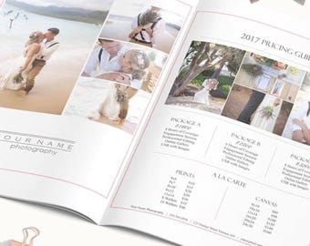 Photography Pricing Guide Template - Photography Forms - Photography Template - Photography Price Sheet - Photoshop Template - Welcome Kit