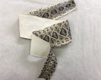 Real Eastern Diamondback Rattlesnake Hide, leathers, reptile, snake, venoumous, exotic, new, soft, proffessional, tanned, python, natural, a