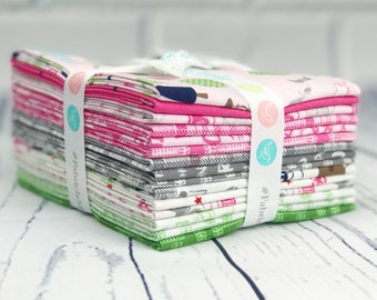 J is for Jeep Fat Quarter Bundle - Riley Blake Designs - 15 pieces