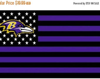 PRE-SEASON SALE 30% Off Baltimore Ravens Mash Up, Baltimore Nation Man Cave Flag or Banner 3' x 5' Black