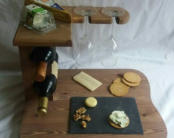 Cheese board ,Wine rack,wine and glasd rack ,wedding gift,birthday gift,Christmas gift,
