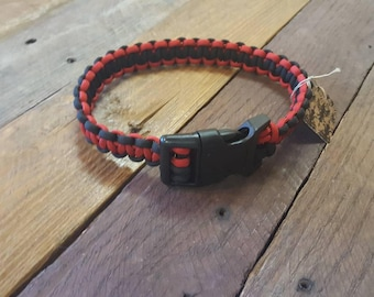 Black and Red Paracord Pet Collar