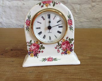 Vintage Ornate Floral Clock - Made In Germany, Very Good Condition.