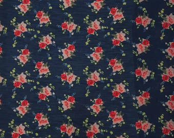 """Sewing Material, Indian Cotton Fabric, Blue Fabric, Home Decoration, 42"""" Inch Quilting Fabric By The Yard ZBC9341A"""