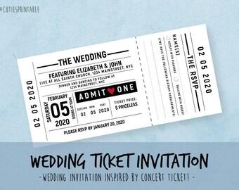 Passport Wedding Invitation Set - Boarding Pass Wedding RSVP - Plane Ticket Wedding - Instant Download