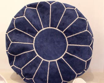 Amazing handmade moroccon pouf Suede
