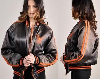 awesome vintage HARLEY DAVIDSON satin bomber jacket     H11