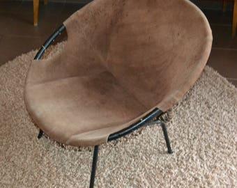 Vintage Cockktail Chair 60 years Brown/Beige