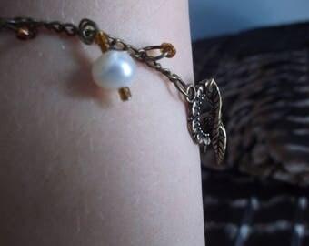 Genuine fresh water pearl bracelet