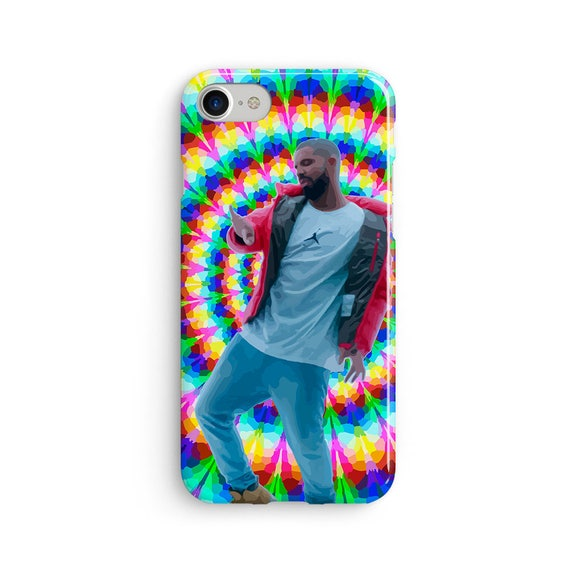Drake hotline bling trippy illustration - iPhone X case - iPhone 8 case - Samsung Galaxy S8 case - iPhone 7 case - Tough case 1P042