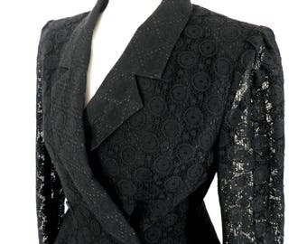 Vintage Black Lace Fitted Jacket    VOGLIA by Shinatomo  Classic