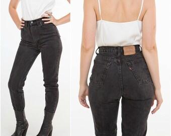 Levis Black Jeans / 531's 27'' / 1980s High waist / Size XS-S