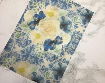 Indigo Blue  - A4 VELLUM sheet, TN vellum, Dashboards
