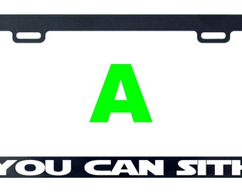 You can sith Star funny license plate frame tag holder decal sticker