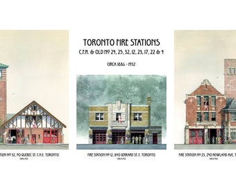 Laura  9in1 print Historic Toronto Fire Stations