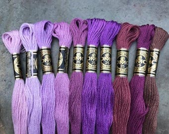 DMC Pearl Cotton Floss #25, Lavender Color Pack, Needlepoint Threads, Crewel, Embroidery, Perle Cotton, Sale .40 each
