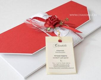 Card, Handmade envelope, Wedding envelope, Birthday envelope, Congratulations envelope, Money envelope, Money gift