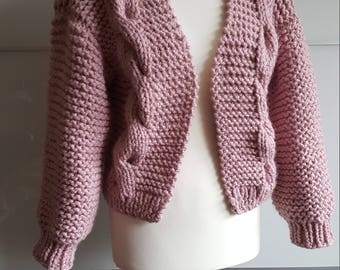 Chunky Knit Cardigan, Oversized Wool Cardigan, Knitted Cardigan, Cozy Knitwear, Loose Fit Cardigan, Chunky Knit Sweater