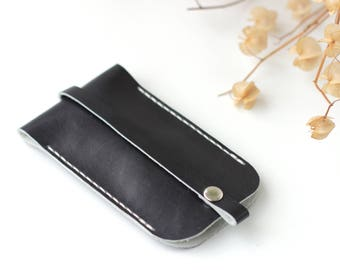 Leather key holder Leather key case Mens key case car Leather key pouch Gift for Men Key cover - Free gift