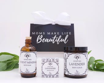 Spa Gift Box, New Mom Care Package, New mom gift basket, spa gift set for mom, spa gift set birthday, spa gift box for her, personalized