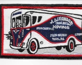 Vintage Trucking & Van Lines J.D. Leonard Moving Storage Truck Trucking York Pennsylvania