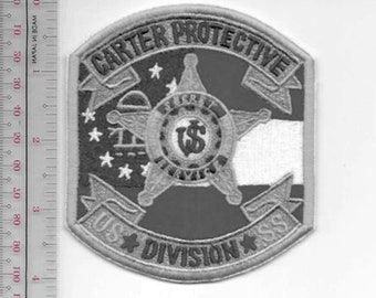 US Secret Service USSS Washington DC President Carter Protective Division Agent Service Patch grey