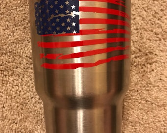 DECAL Distressed American Flag