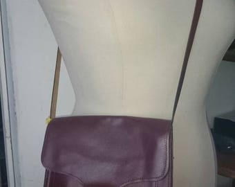 1970s Leather Messenger