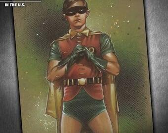Robin '66 - Original Portrait Drawing of Burt Ward as Robin the Boy Wonder from the 60s Batman Series
