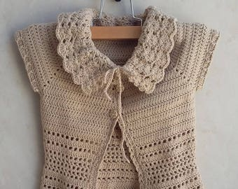 Baby cardigan - Baby sweater - Baby girl Clothes - Hand knit sweater