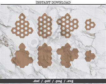 Honeycomb hexagon cut file,earrings,leather jewelry making,SVG, DXF,PNG,Cricut, Silhouette, cutting machine,vector graphic,explore,