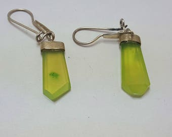 Vesuvianite Earrings Green Idocrase@ Afghanistan (4)