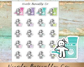 Cutie Pies- Laundry Day- Washing Machine- Planner Stickers
