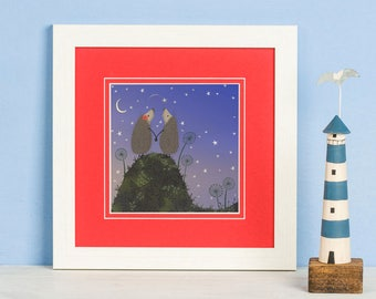 Hedgehugs 'Shooting Star' Framed Print | Hedgehog Print | Gifts for Hedgehog Lovers | Hedgehog Gift | Hedgehogs