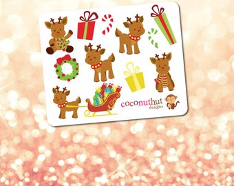 Rudolph the Reindeer / Christmas / Holiday Mini Planner Sticker Sheet