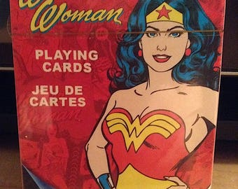 DC Comics Classic Art Wonder Woman Playing Cards Set of 52 Cards Never Opened Collectible