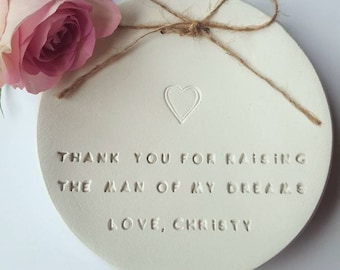 Thank You For Raising The Man Of My Dreams ~ Mother Of The Groom ~ Wedding Favors ~ Mother Gift
