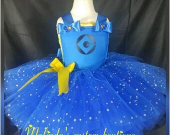 Sparkle Minion, Minion costume, Minion tutu, Minion party dress, Minion birthday