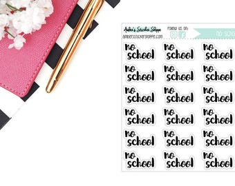 Cursive No School Headers Labels Planner Stickers