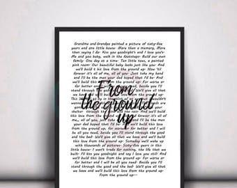 Dan shay lyrics etsy dan shay from the ground up song lyrics instant digital download stopboris Image collections