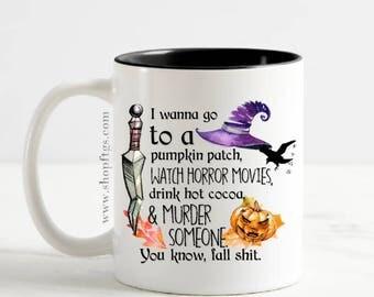 Fall Sh*t Halloween Coffee Mug / Cup