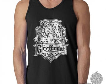 Gryffin Crest #2 One Color print on Male tank top