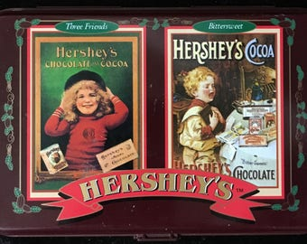 Hershey's Limited Edition Collector Tin w/Playing Cards 1997