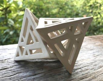 Double Pyramid Porcelain Sculpture