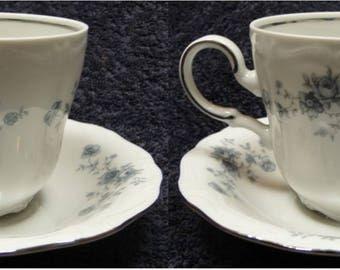 TWO Johann Haviland Traditions Cup Mug Saucer Sets 2 EXCELLENT!