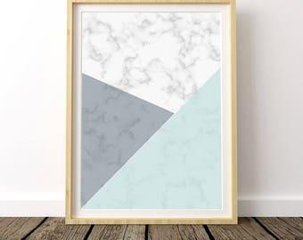 Affiche Scandinave, Scandinavian Print, Modern Geometric Poster, Marble Print, Scandinavian Modern, Scandinavian Art, Nordic Poster,