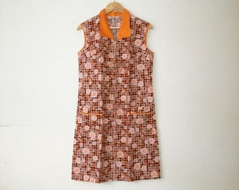 Vintage 60s dress deadstock cotton flower