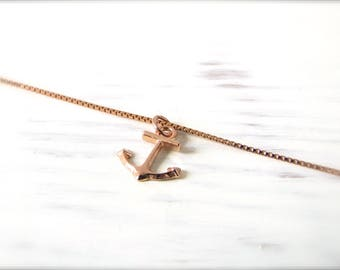 Anchor | Necklace | Rosé gold