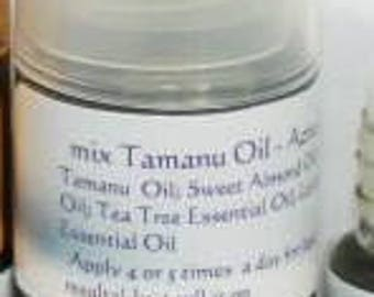mix Tamanu Oil/face serum/antibacterial and anti-inflammatory/ fights acne and acne scars