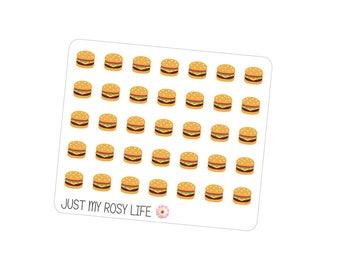 Burger Planner Stickers